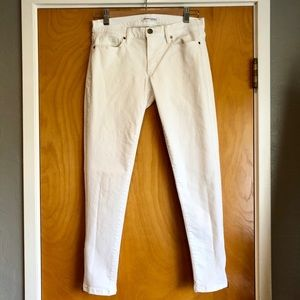 Banana republic skinny white jeans ankle zipper 26